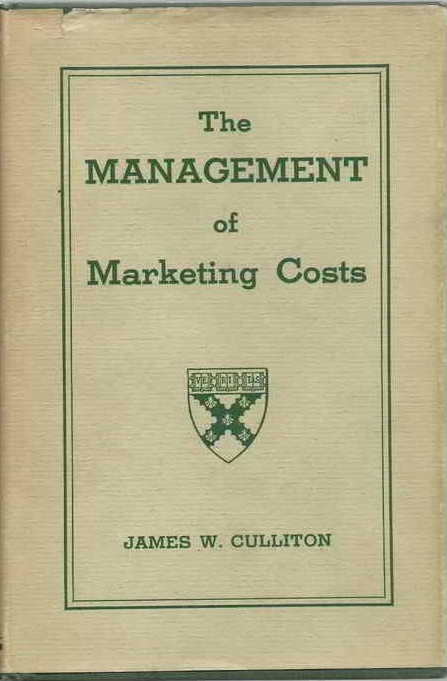 the management of marketing costs